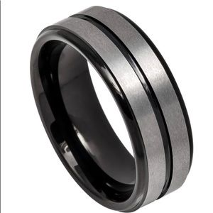 Other - Black and silver tungsten ring